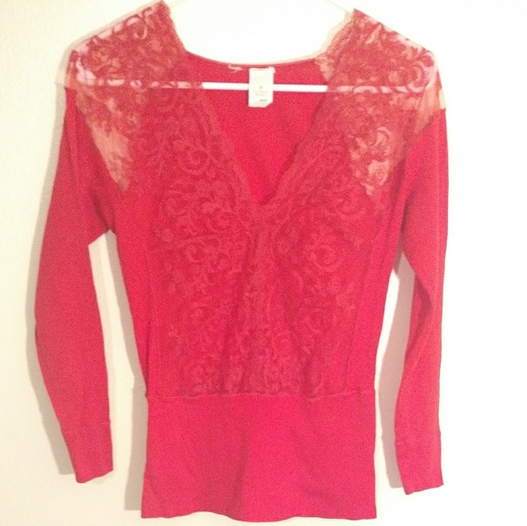 Victoria's Secret Tops - ♥️ Victoria's Secret Lace shirt